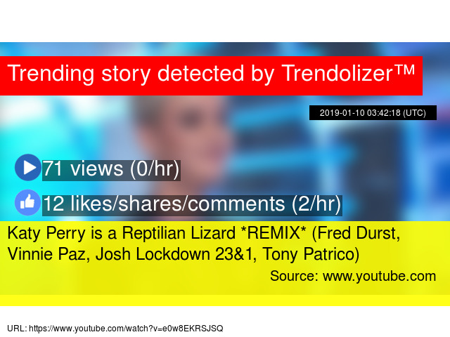Katy Perry is a Reptilian Lizard *REMIX* (Fred Durst, Vinnie Paz
