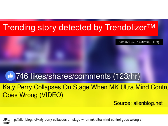 Katy Perry Collapses On Stage When MK Ultra Mind Control Goes Wrong