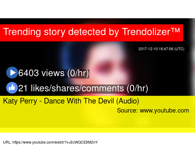 Katy Perry Dance With The Devil Audio